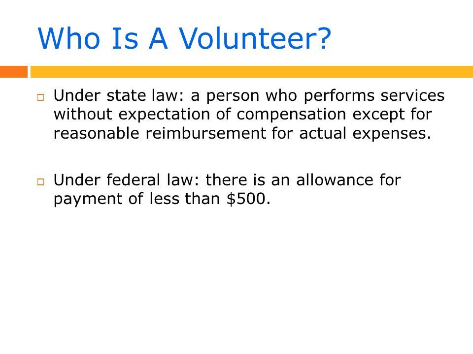 Risks To Volunteers