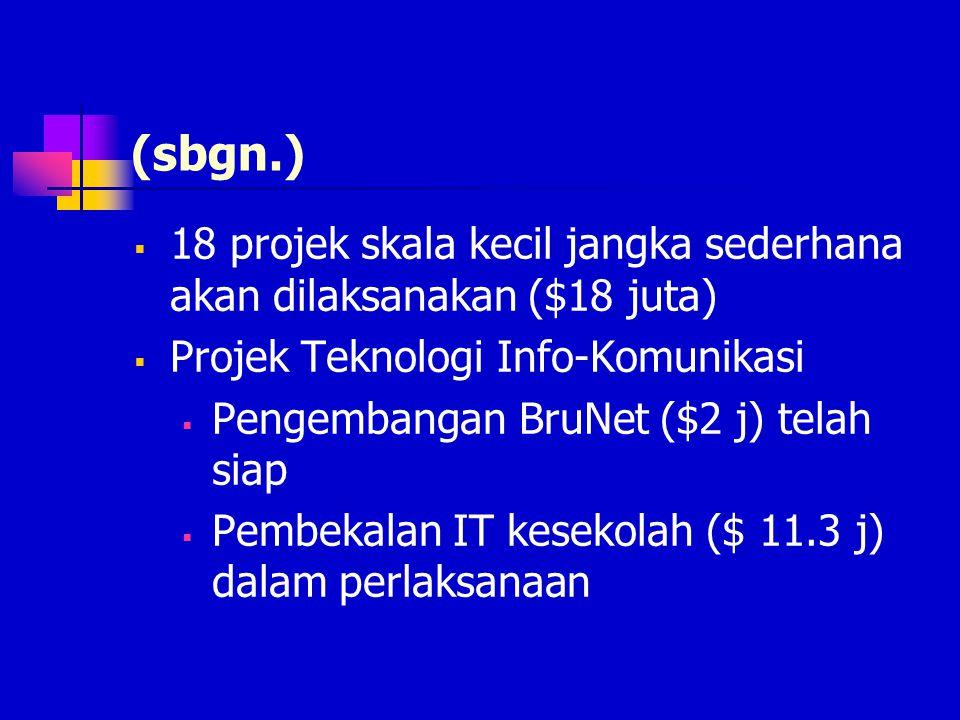 Pakej Rangsangan  Pembinaan 512 unit perumahan & Infrastruktur dimulakan sejak Okt 2000  300 unit (kelas C,D,E) dibawah JKR ($18 j)  14 pakej infra