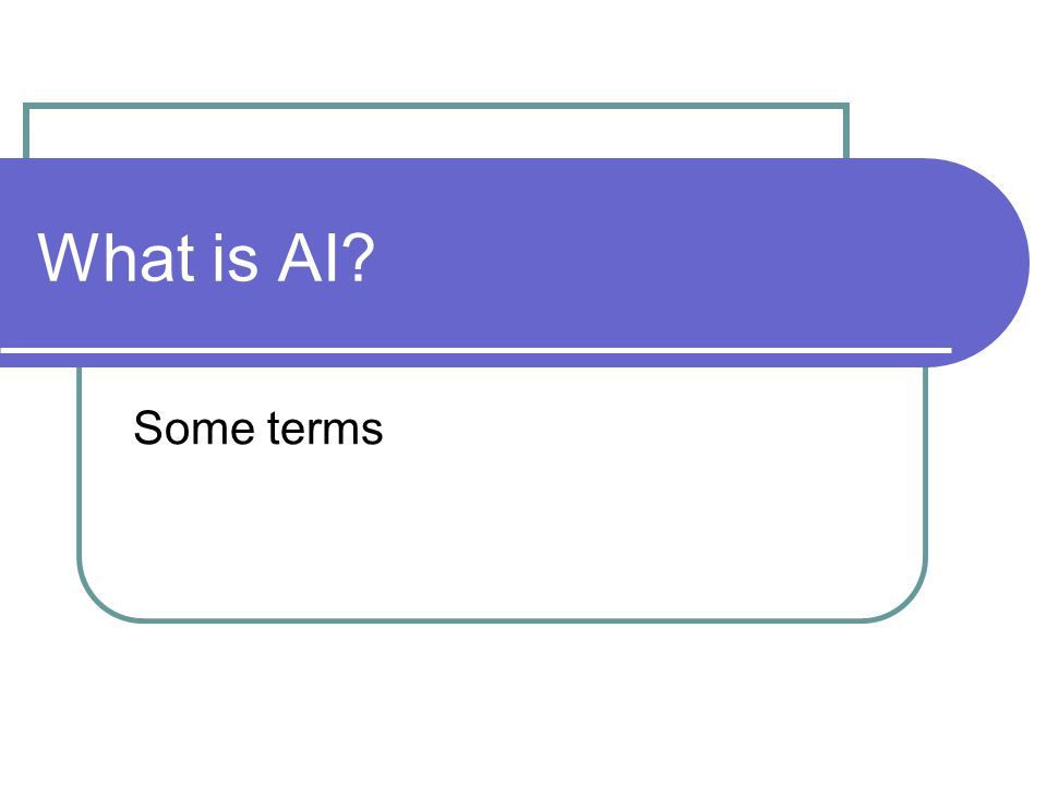What is AI Some terms