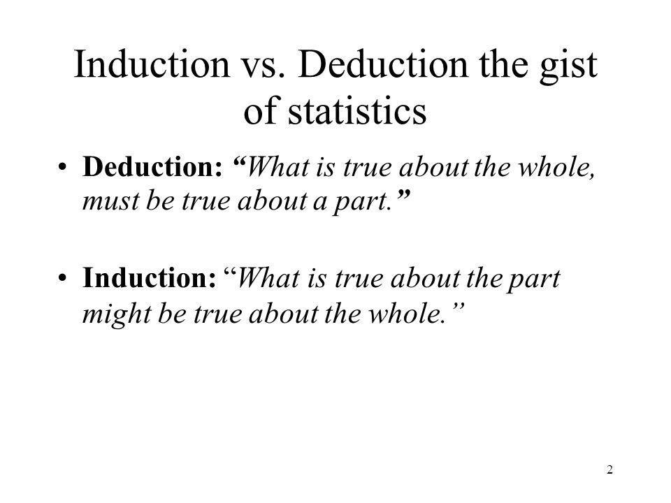 2 Induction vs.