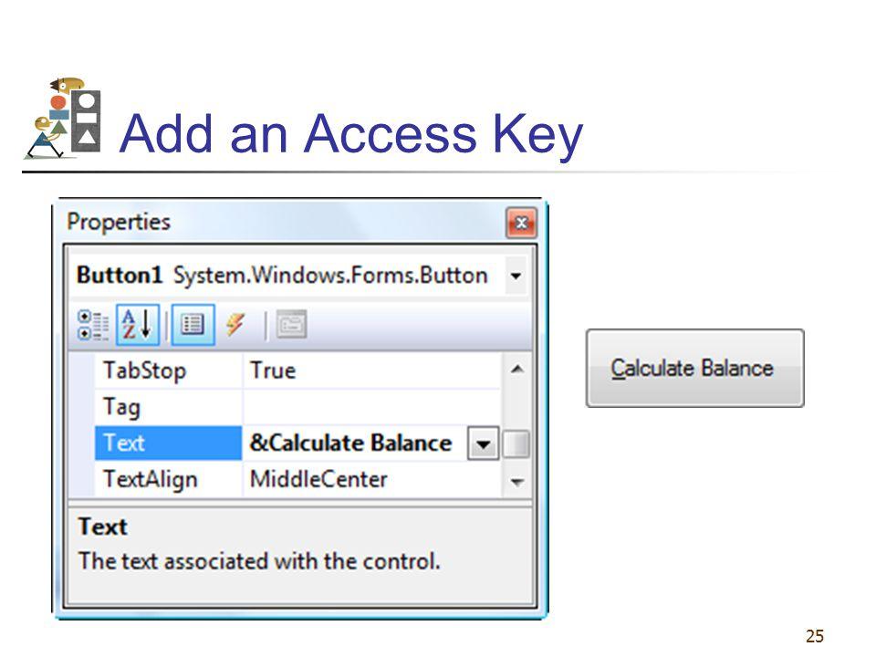 25 Add an Access Key
