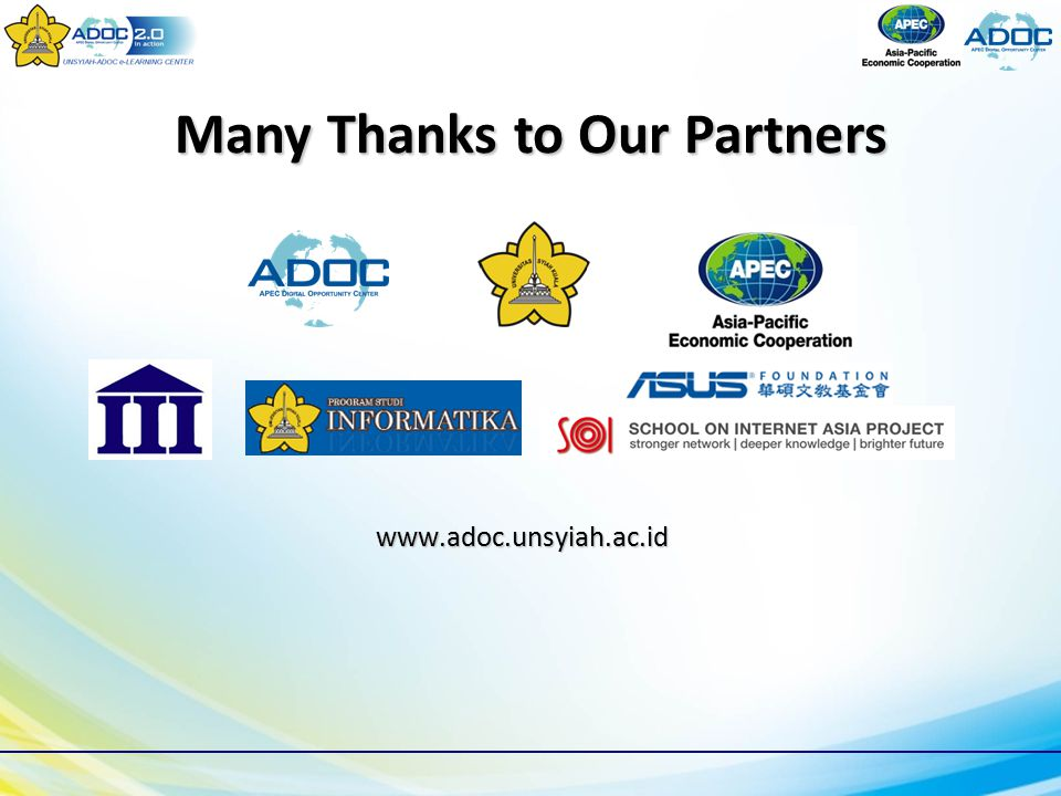 www.adoc.unsyiah.ac.id Many Thanks to Our Partners
