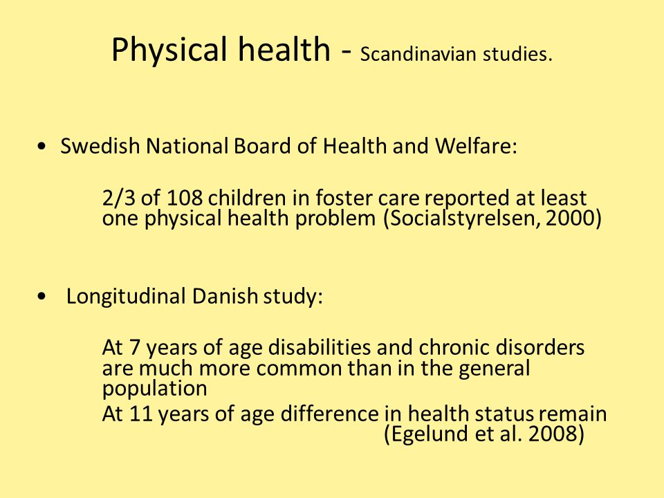 Physical health - Scandinavian studies.
