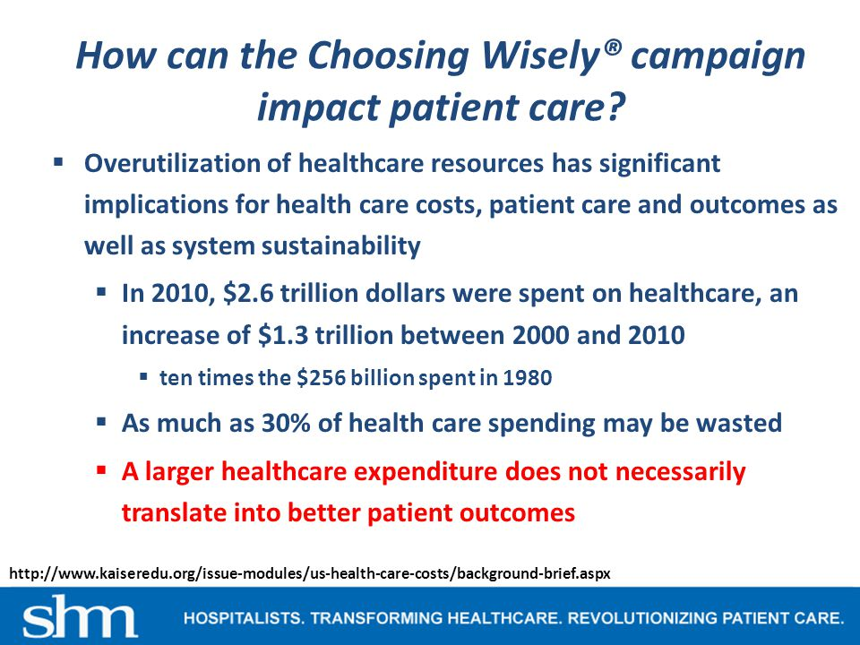How can the Choosing Wisely® campaign impact patient care.