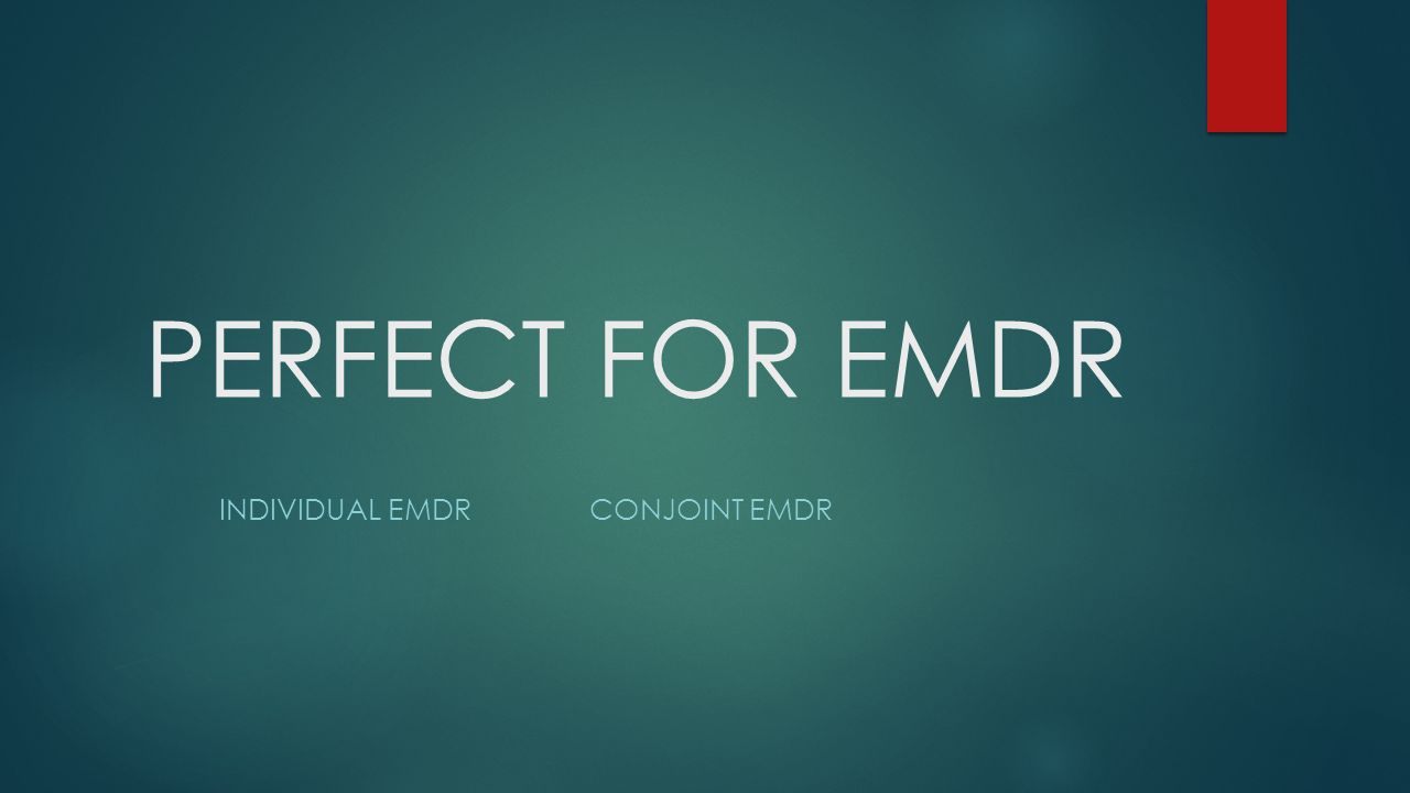 PERFECT FOR EMDR INDIVIDUAL EMDRCONJOINT EMDR