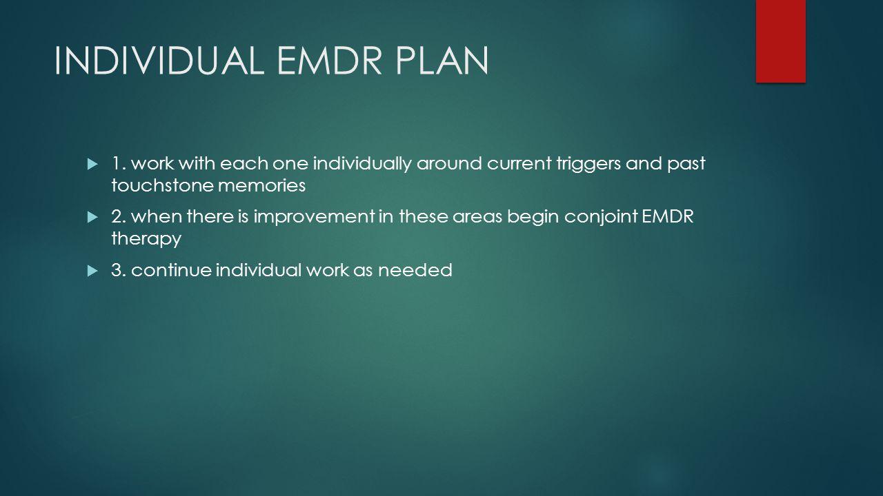 INDIVIDUAL EMDR PLAN  1.