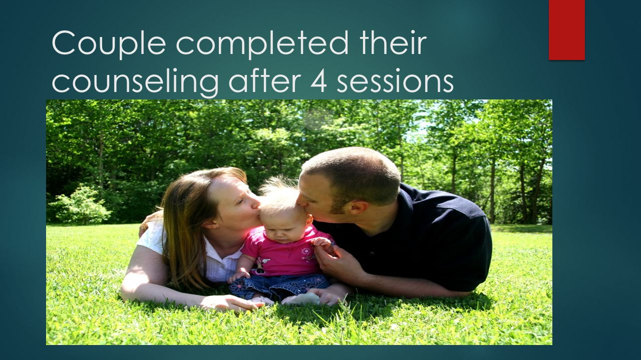 Couple completed their counseling after 4 sessions