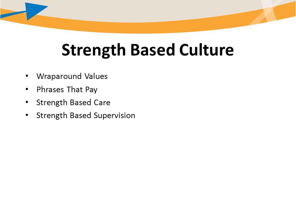 Strength Based Culture Wraparound Values Phrases That Pay Strength Based Care Strength Based Supervision