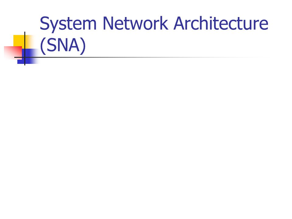System Network Architecture (SNA)