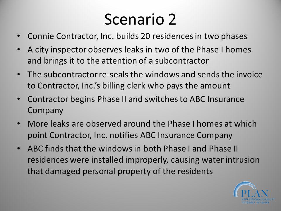 Scenario 2 Connie Contractor, Inc.