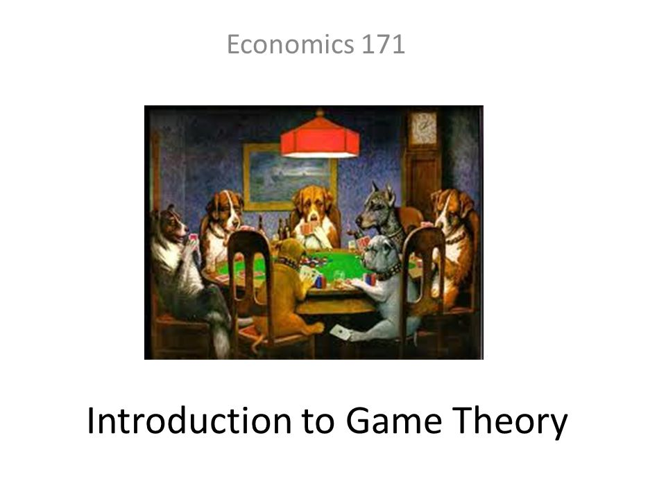 Introduction to Game Theory Economics 171