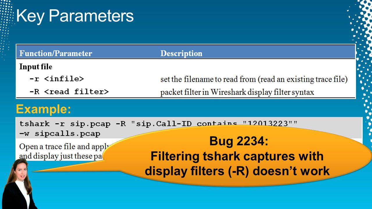 Bug 2234: Filtering tshark captures with display filters (-R) doesn't work Bug 2234: Filtering tshark captures with display filters (-R) doesn't work