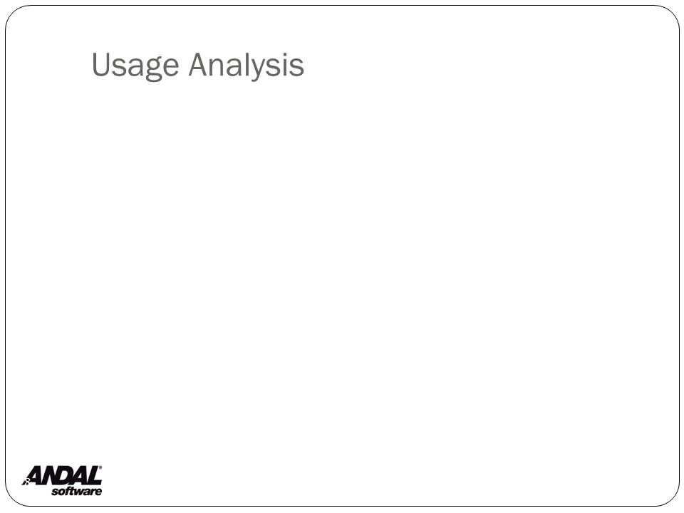 Principles of Usage Analysis 29 Determine the application domain with use cases.