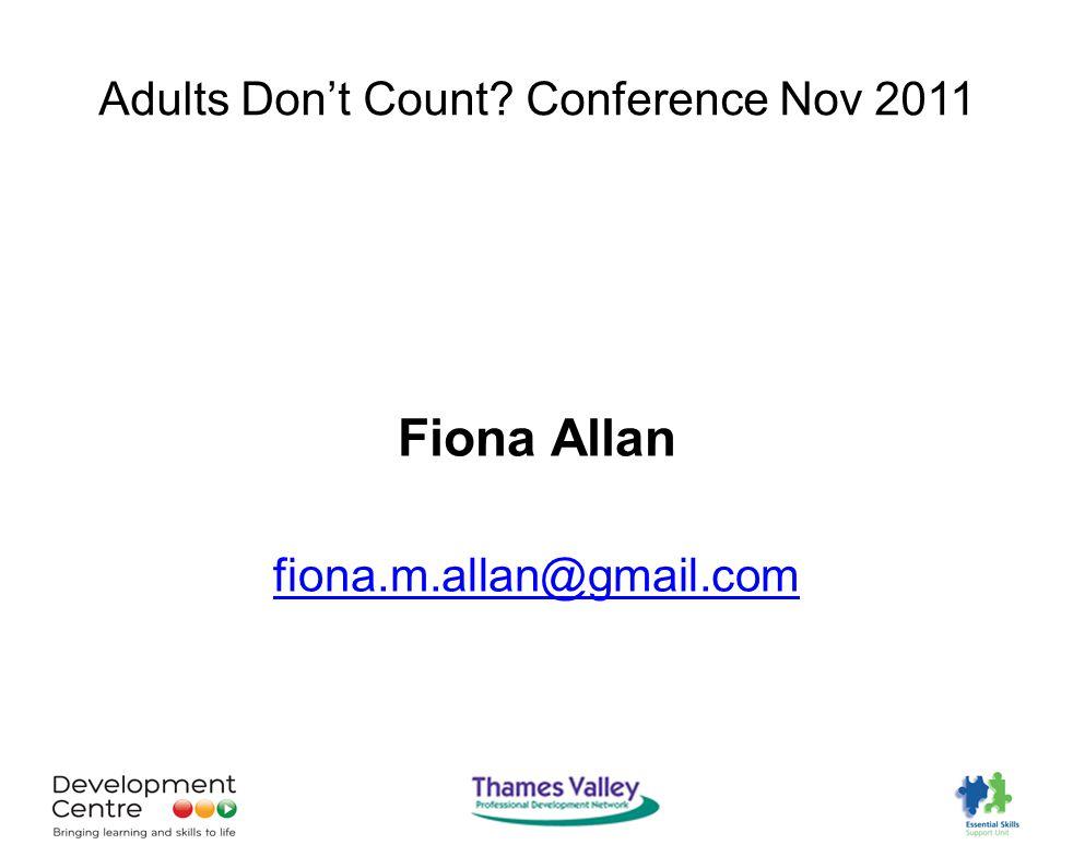 Fiona Allan fiona.m.allan@gmail.com