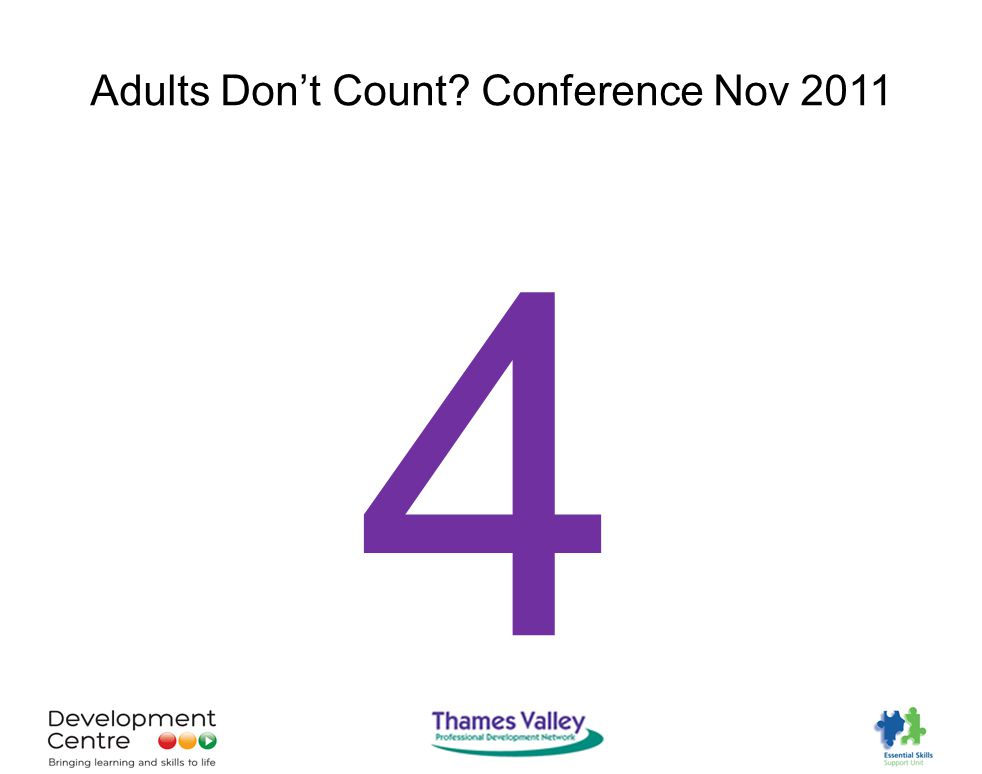 Adults Don't Count Conference Nov