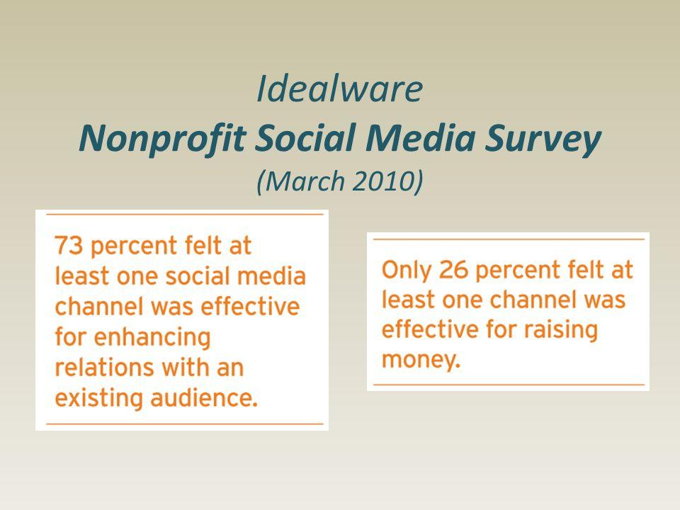 Idealware Nonprofit Social Media Survey (March 2010)