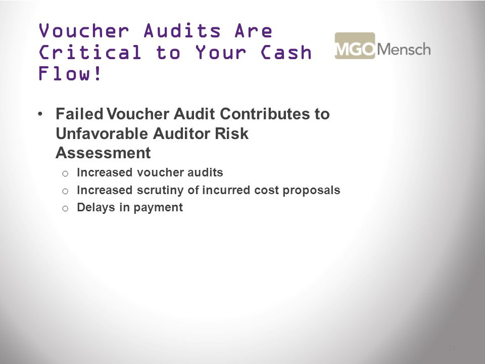 Voucher Audits Are Critical to Your Cash Flow.