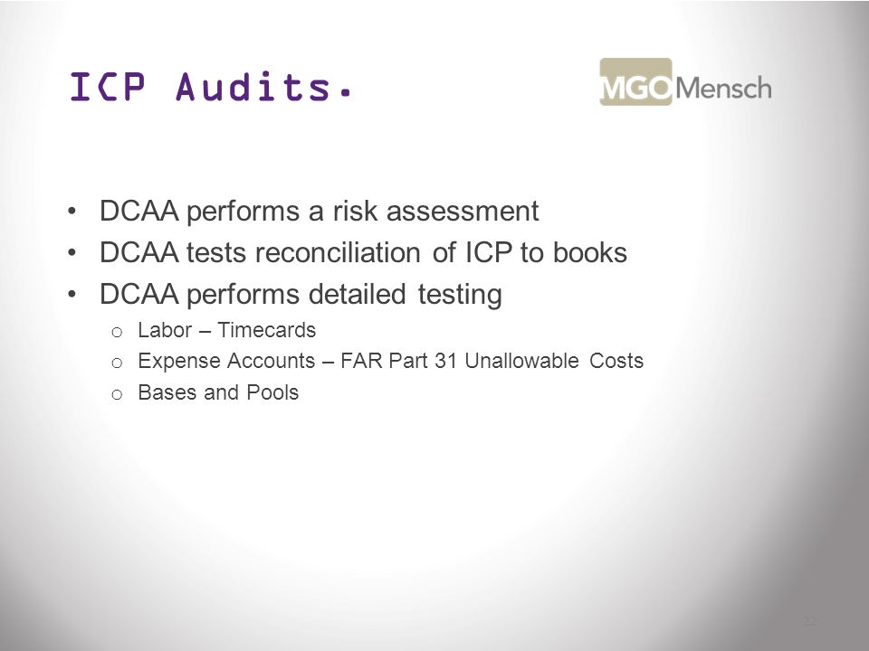 ICP Audits.
