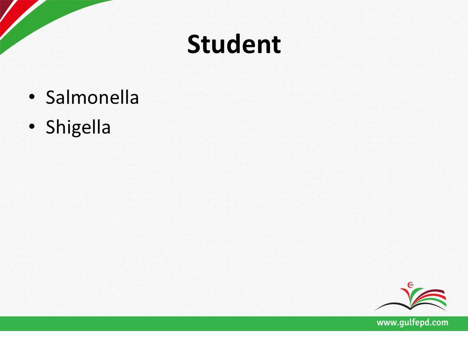 Student Salmonella Shigella