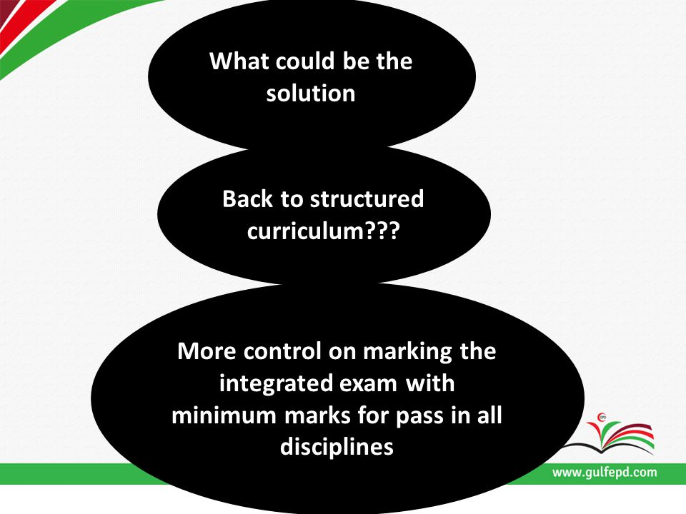 What could be the solution Back to structured curriculum??.