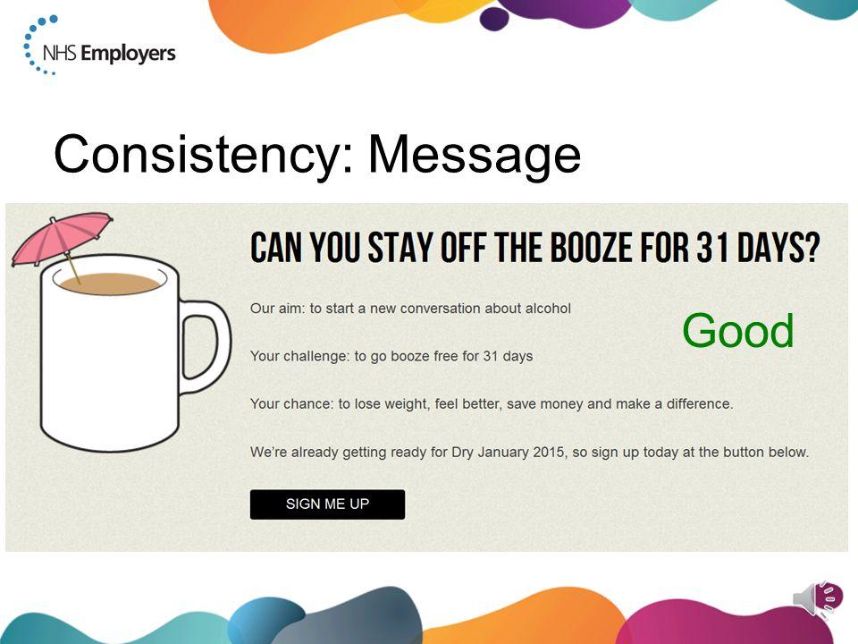 Consistency: Message Good