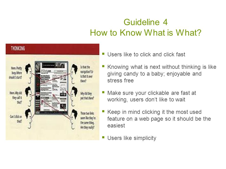 Guideline 4 How to Know What is What.