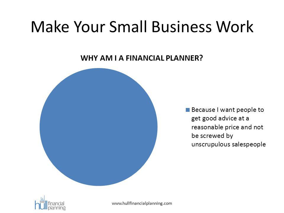 Make Your Small Business Work www.hullfinancialplanning.com