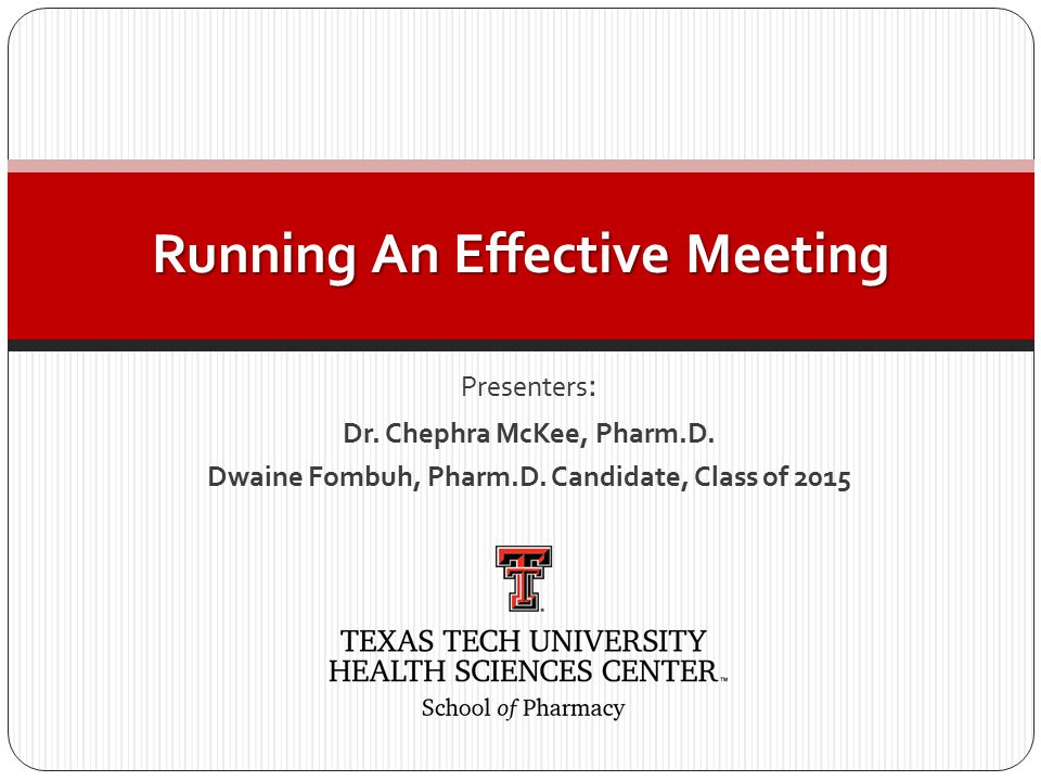 Presenters : Dr. Chephra McKee, Pharm.D. Dwaine Fombuh, Pharm.D.