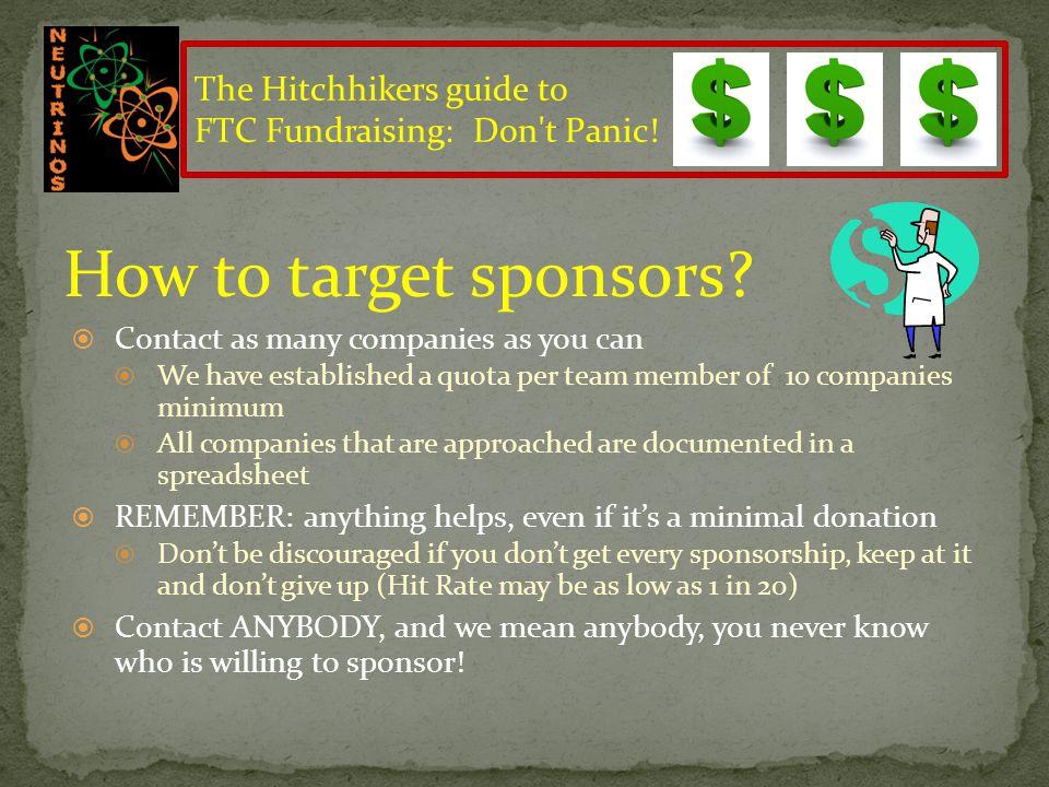 Sponsorships…Who to Target.
