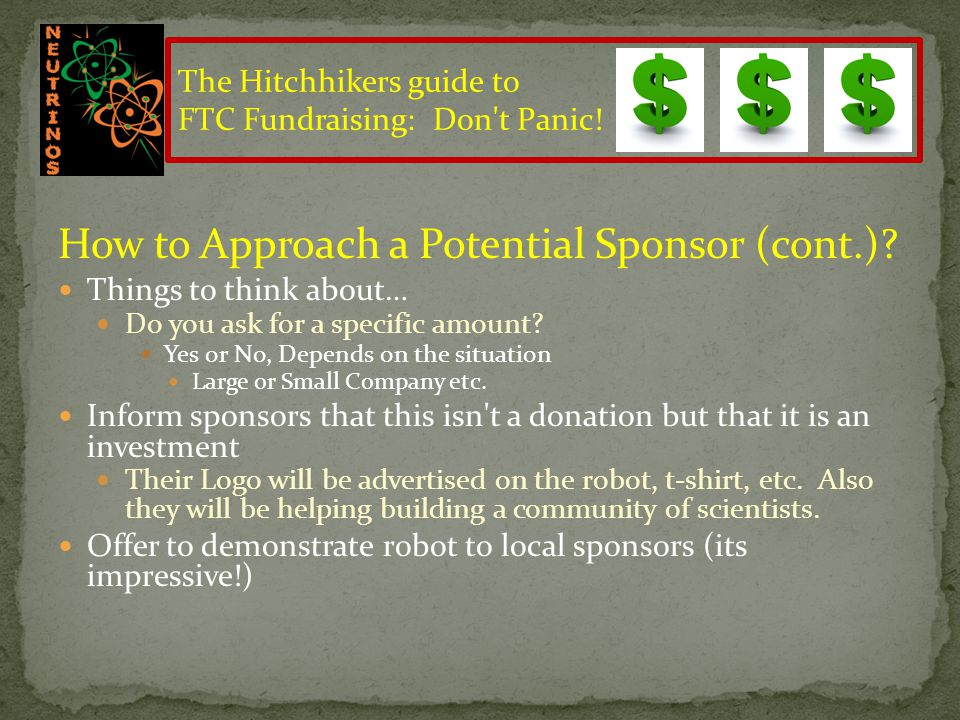 How to Approach a Potential Sponsor .