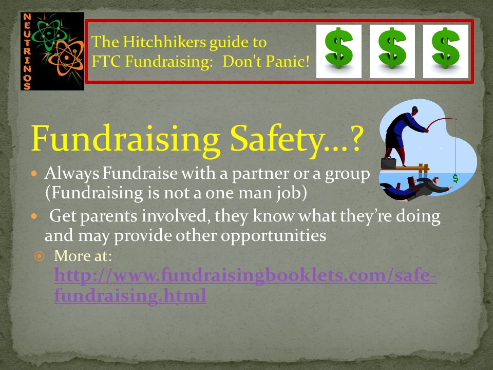 Fundraising Safety….