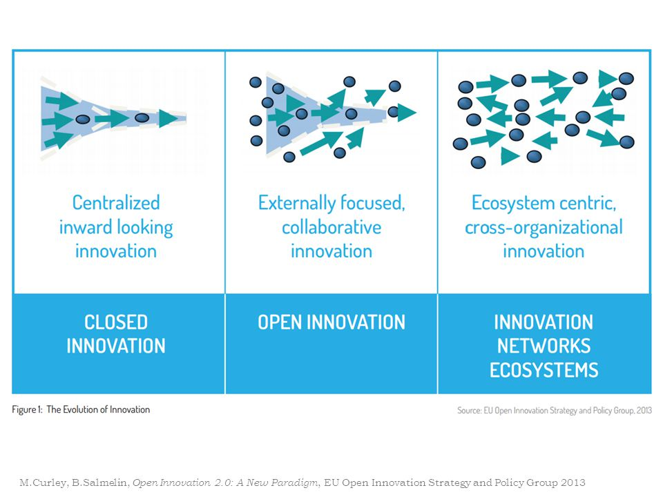 M.Curley, B.Salmelin, Open Innovation 2.0: A New Paradigm, EU Open Innovation Strategy and Policy Group 2013