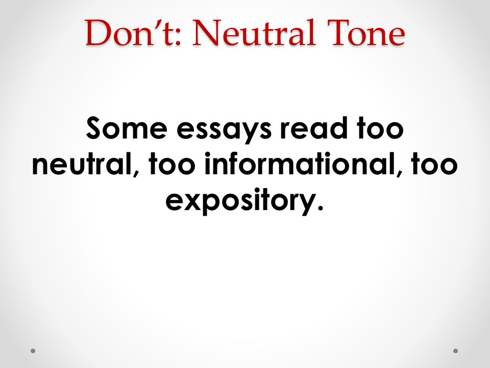 neutral tones essay