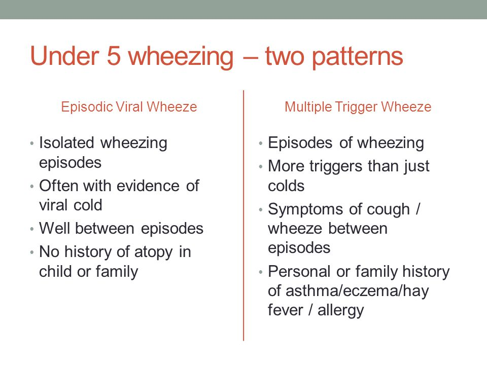 Chronic cough May be asthma, but rare for asthma never to cause wheeze as well Loose cough suggests recurrent bacterial infection which is rare – CF, bronchiectasis, immune deficiency, persistent bacterial bronchitis Reflux history or cough after feeding suggests reflux Remember whooping cough and viral imitators - paroxysmal – video recording helpful