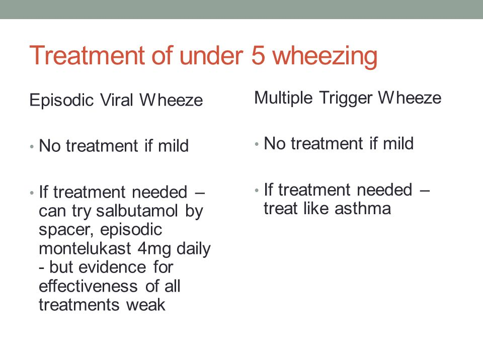 Can we diagnose asthma in under 5's.