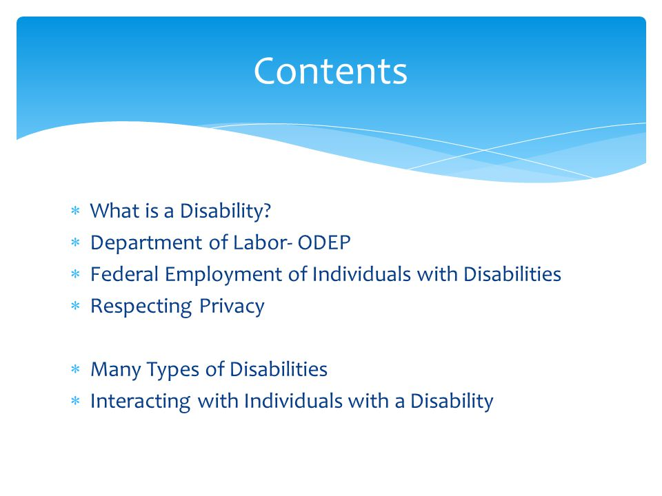  What is a Disability.