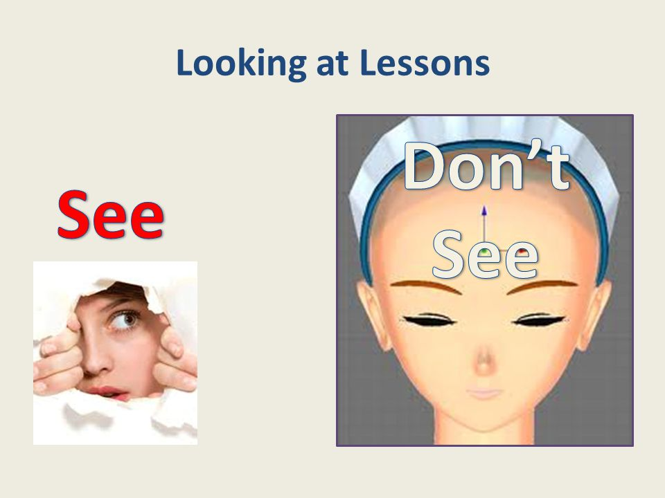 Looking at Lessons