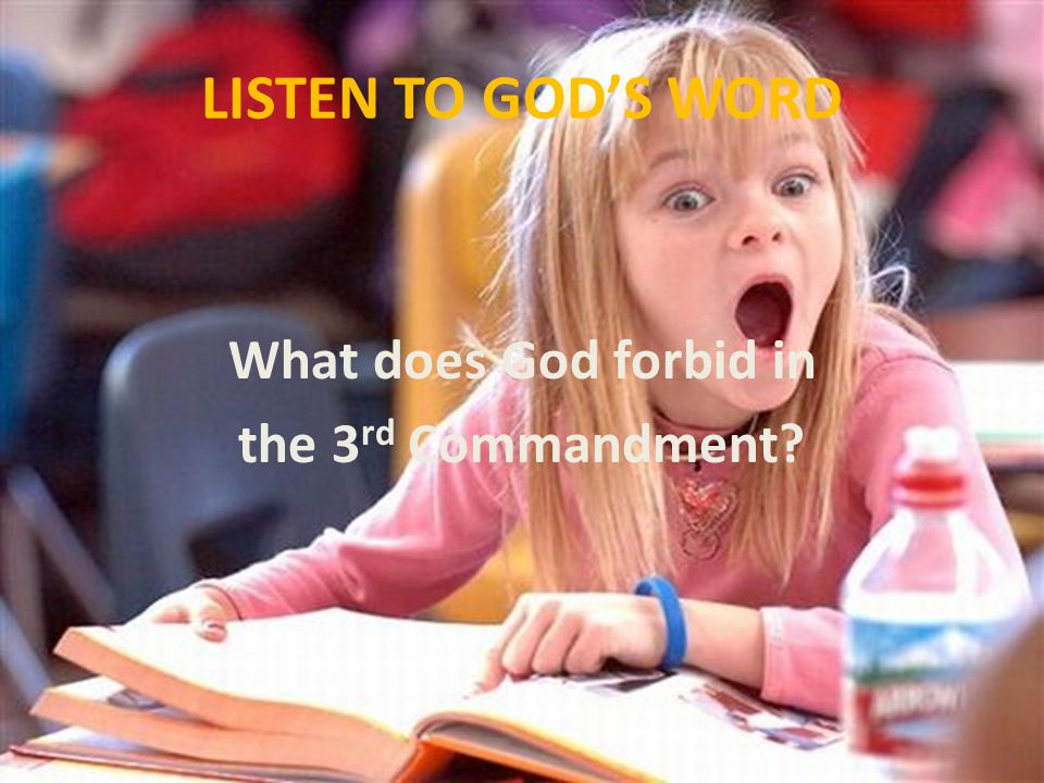 AN IMPORTANT MESSAGE 10.Why do we say people are despising God's Word when they are careless about listening to it.
