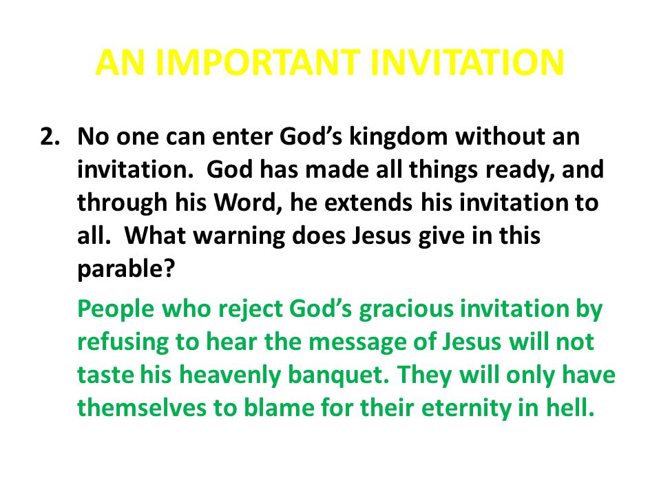 AN IMPORTANT MESSAGE 12.What are some practical things we can do to help us learn God's Word when we are… a.