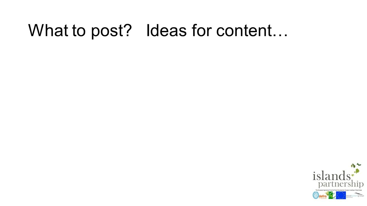 What to post Ideas for content…