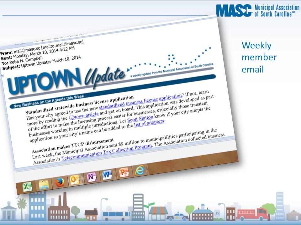 Weekly member email
