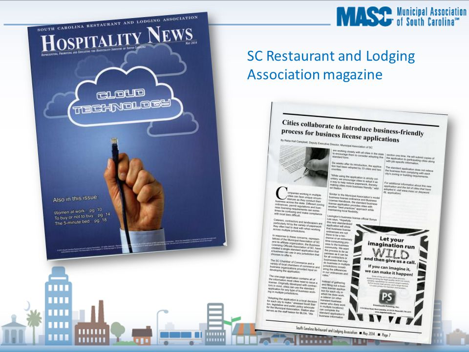 SC Restaurant and Lodging Association magazine