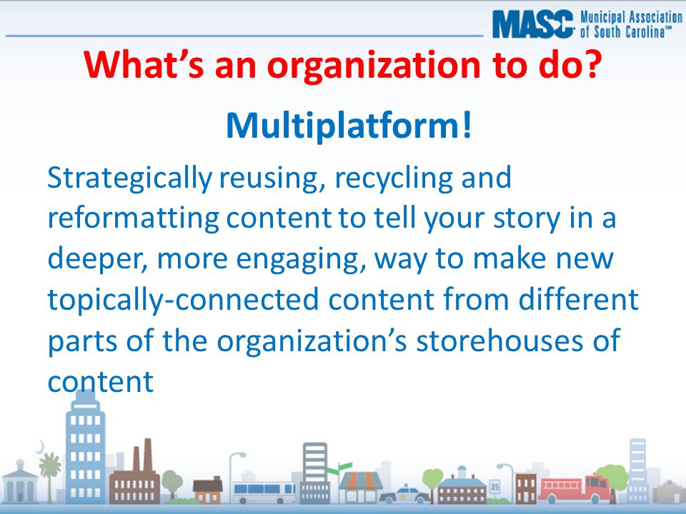 What's an organization to do. Multiplatform.
