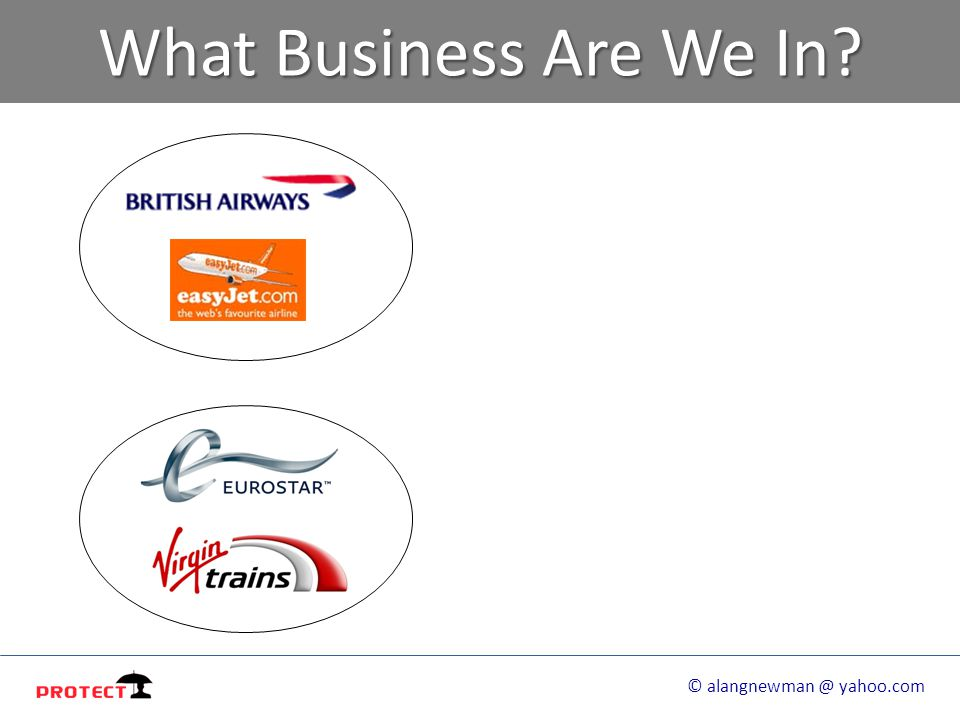 What Business Are We In? © alangnewman @ yahoo.com