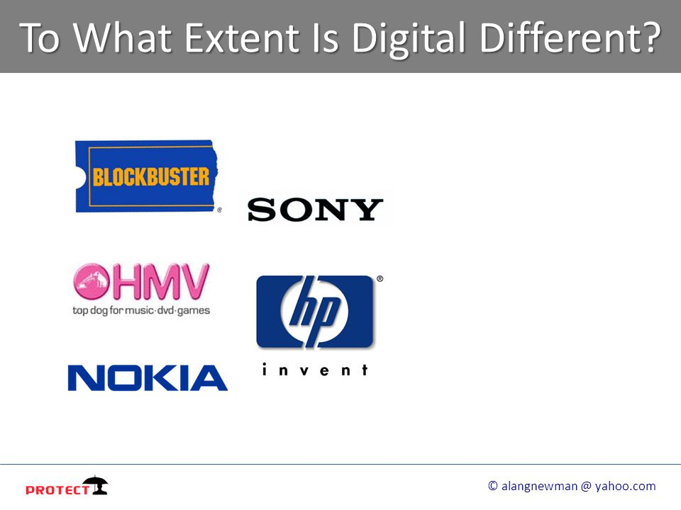 To What Extent Is Digital Different? © alangnewman @ yahoo.com