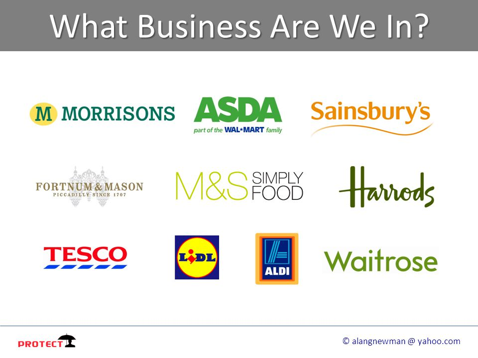 What Business Are We In © alangnewman @ yahoo.com