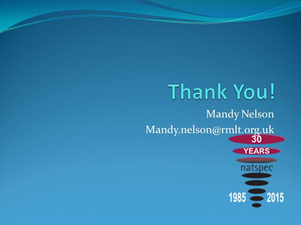 Mandy Nelson Mandy.nelson@rmlt.org.uk