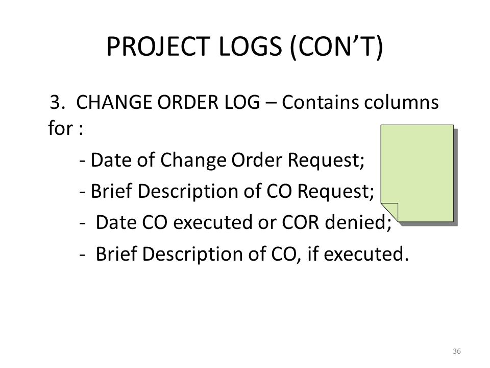 PROJECT LOGS (CON'T) 3.