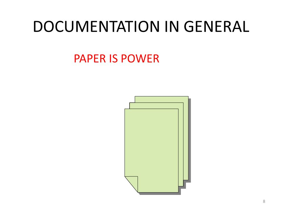 DOCUMENTATION IN GENERAL PAPER IS POWER 8