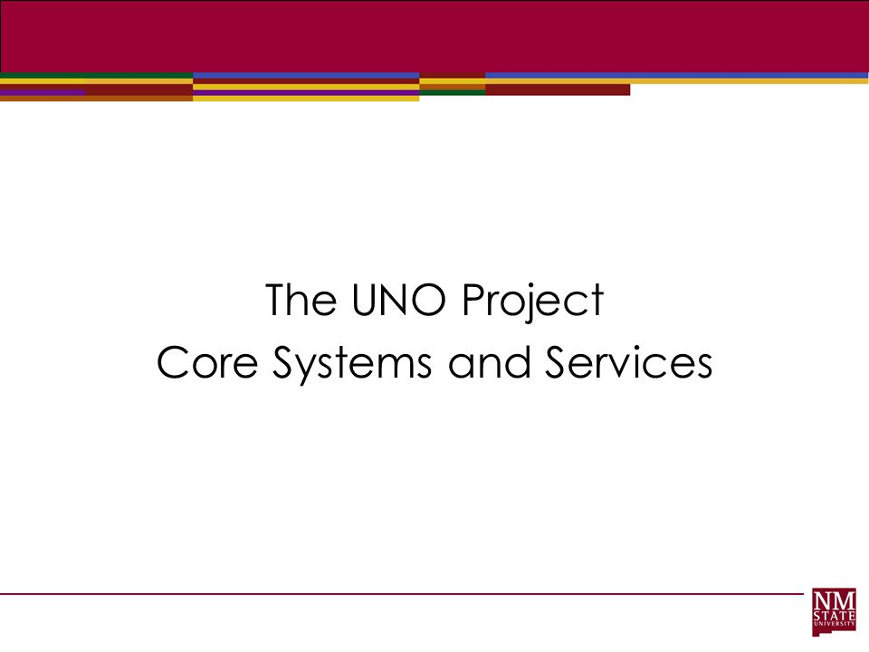 The UNO Project Core Systems and Services